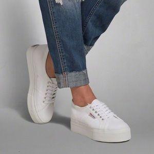 Superga platform sneakers. Fit 6.5-7